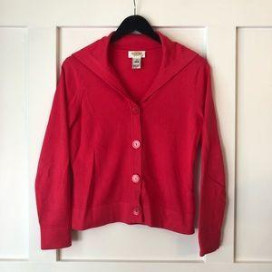 Talbots Hot Pink Shawl Neck Cardigan Sweater